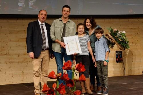 Die Zweitplatzierten, Familie Manuela und Urs Bryner aus Othmarsingen.
