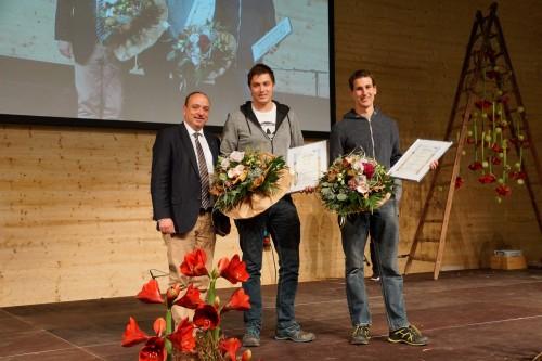 Ramon Staubli, Muri (li) und Martin Spillmann (re) sind die Gewinner des Spezialpreises Jungunternehmer.